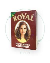 Натуральная индийская ХНА для волос Royal, коричневая, 7шт. по 10гр