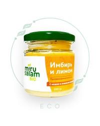 Противовирусный комплекс ИМБИРЬ и ЛИМОН с мёдом и льняным маслом от MiruSalam, 230 гр